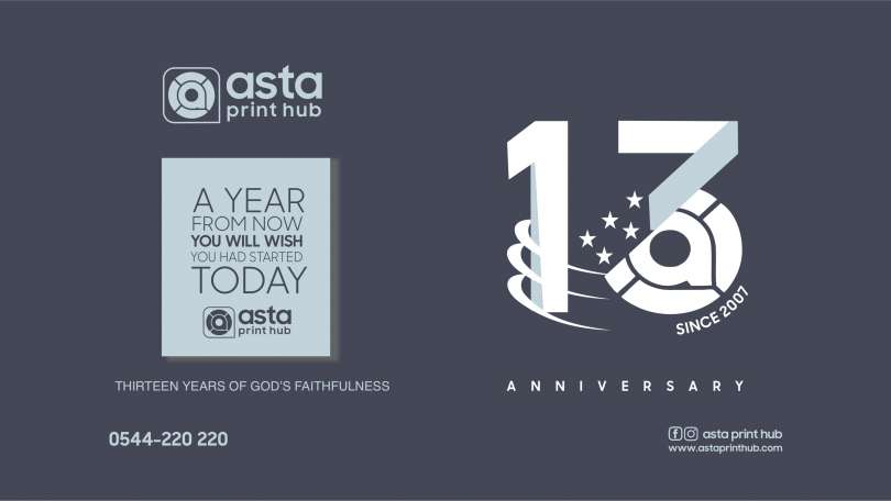 Asta Print Hub celebrates her 13th year's anniversary